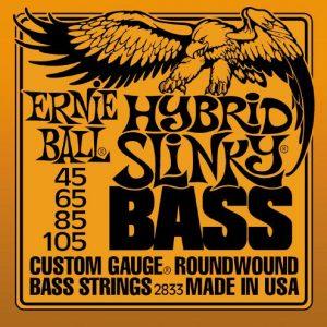 Ernie Ball Hybrid Slinky 2833 Nickel Bass Guitar Strings 45-105-2870