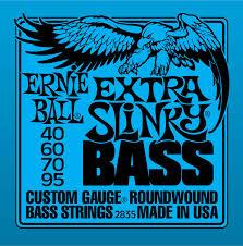 Ernie Ball Extra Slinky 2835 Nickel Bass Guitar Strings 40-95-2868