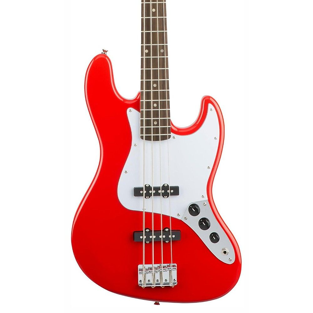 Squier-Affinity-Jazz-Bass-Rosewood-Fretboard-Race-Red